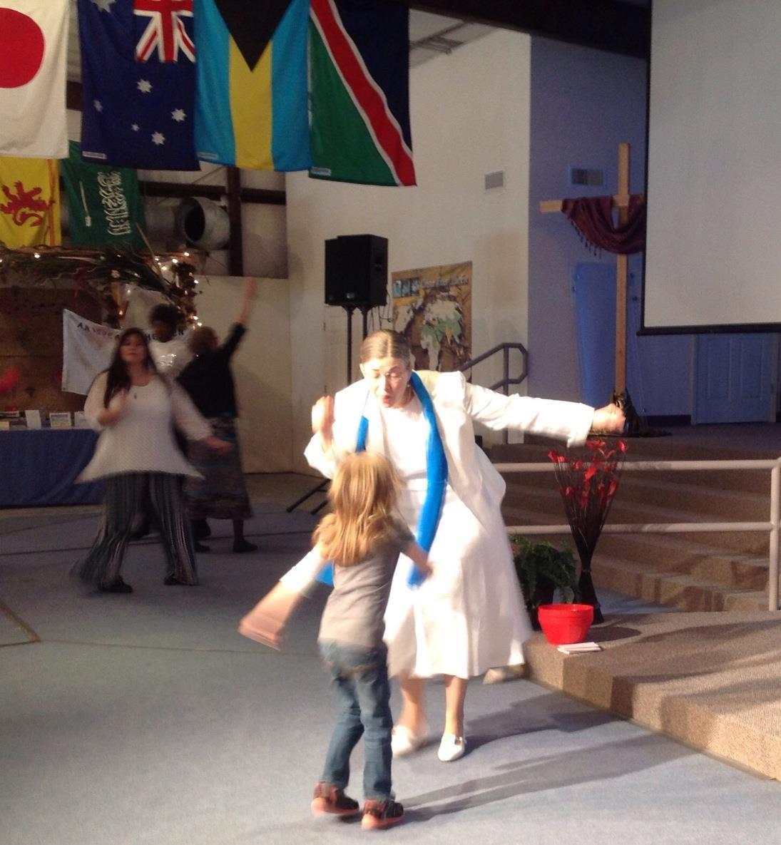 Dancing with granddaughter