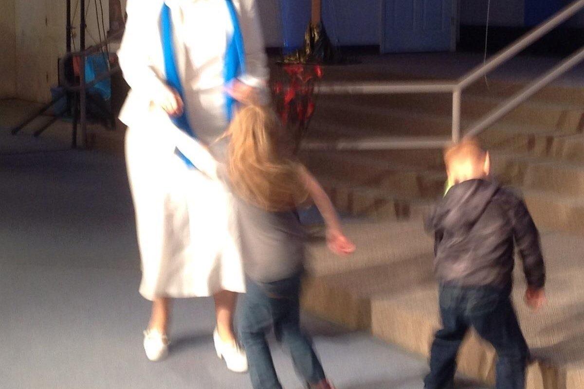 Dancing with the grandchildren