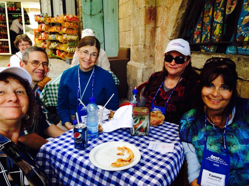 Pizza with friends in Jerusalem