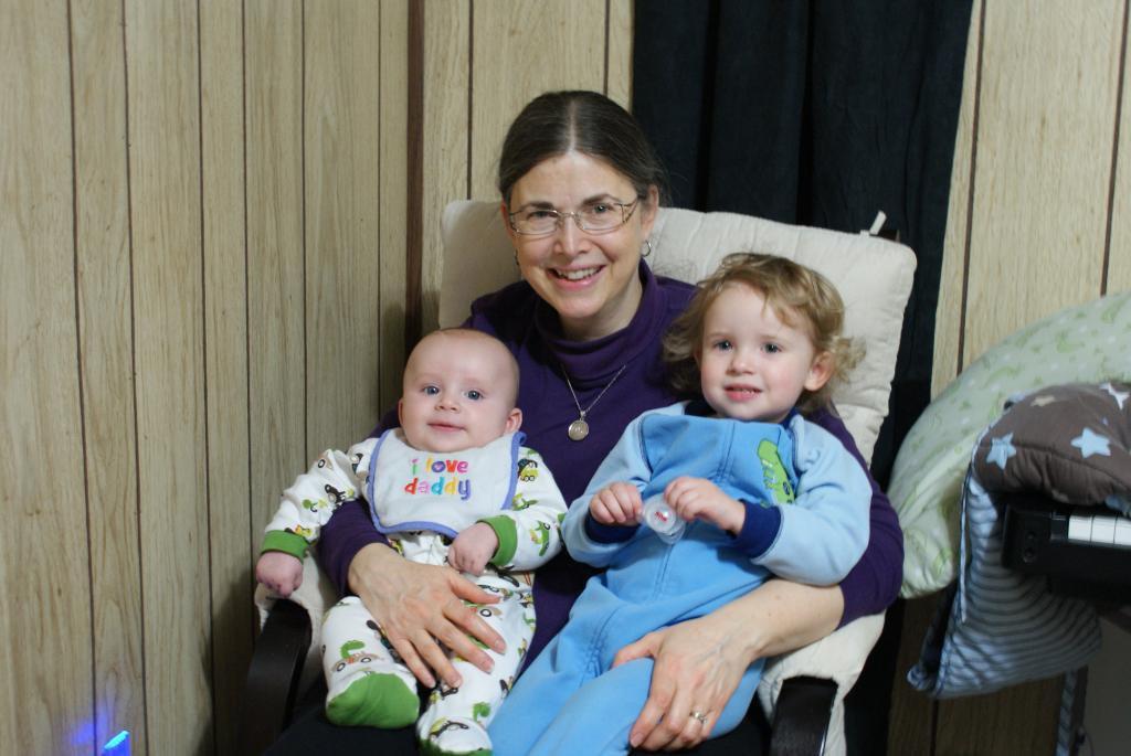 January 2011 with grandchildren