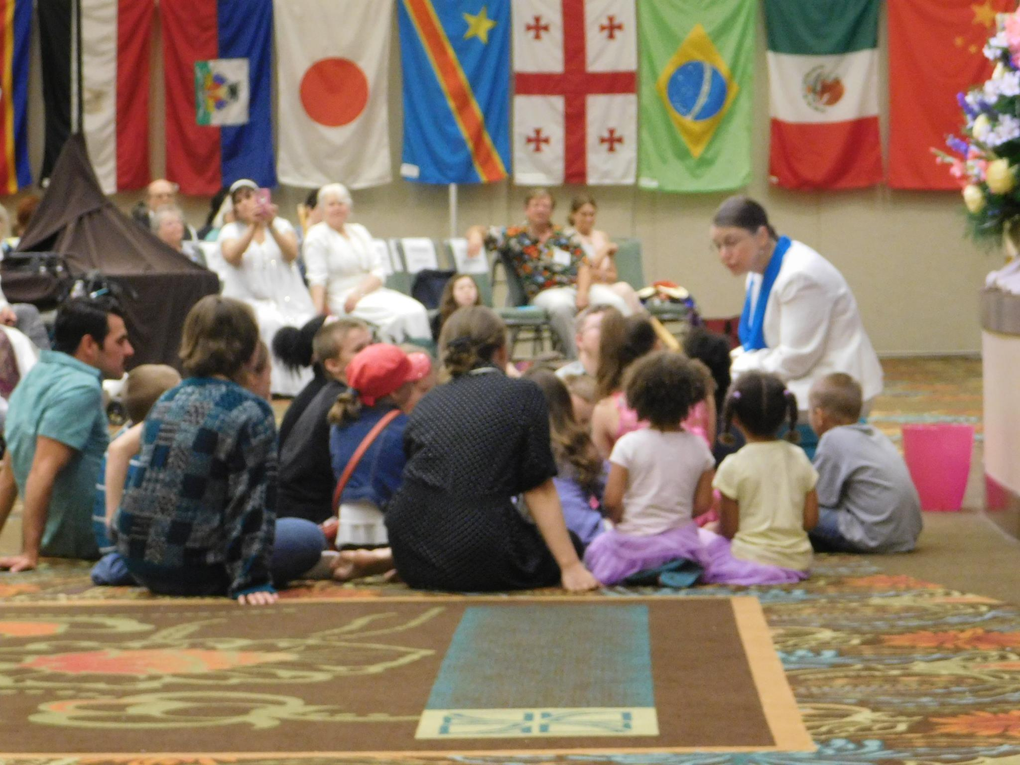 Sharon teaching the children at the World Convention