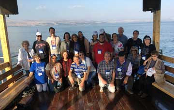 Enjoy a delightful boat ride with praise and worship on the Sea of Galilee.