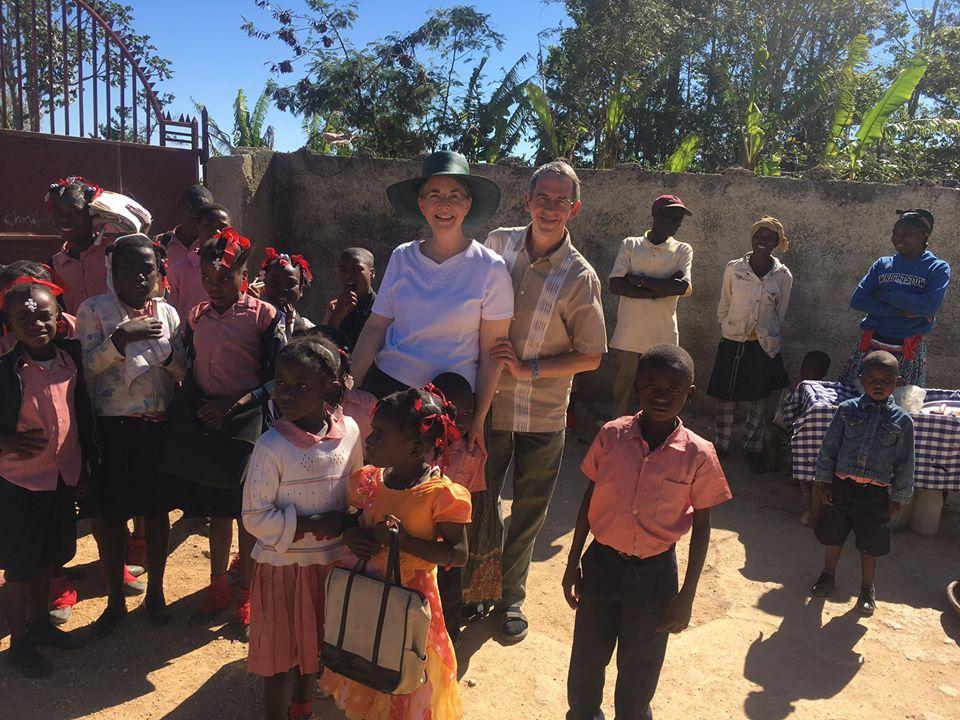 Visiting a school in Haiti