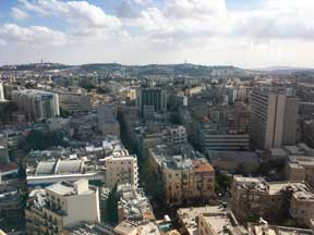 The eastward view from the Israel Prayer Tower